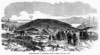 0101858 © Granger - Historical Picture ArchiveSTRANDED WHALE, 1869.   Whale stranded at Longniddry, Firth of Forth, Scotland. Wood engraving, English, 1869.