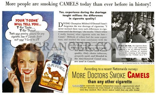 Image of AD: CAMEL CIGARETTES  - American Advertisement For