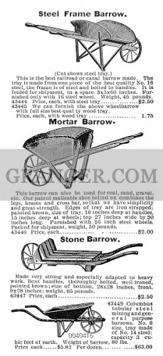 Image of WHEELBARROWS, 1895  - From The Montgomery Ward & Co  Mail