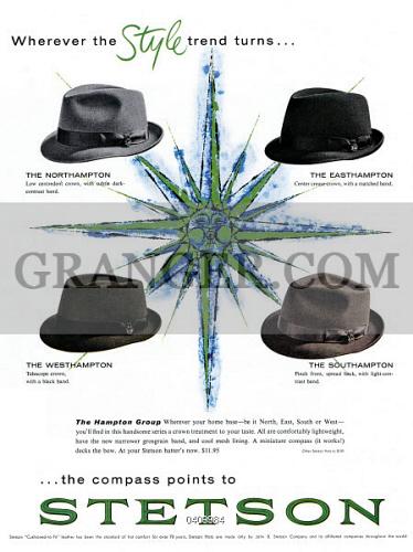 American advertisement for Stetson hats 6094edd17a91