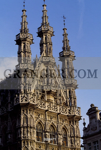 image of art architecture city hall in brabantine gothic style