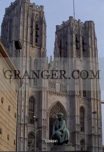 image of art architecture brabantine gothic style st michael