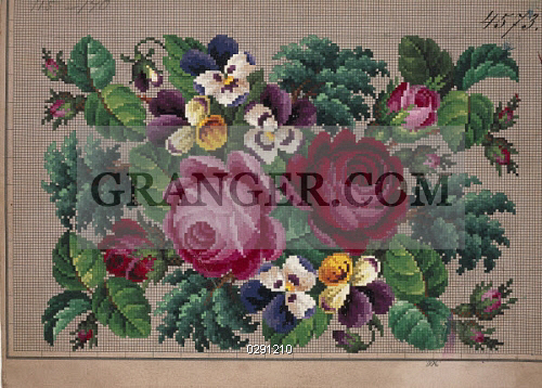 Image Of Decorative Arts Embroidery Germany 19th Century Bunch