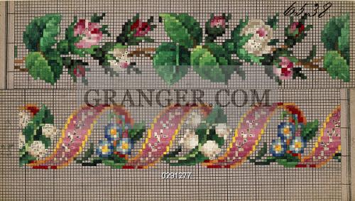 Image Of Decorative Arts Embroidery Germany 19th Century Hem