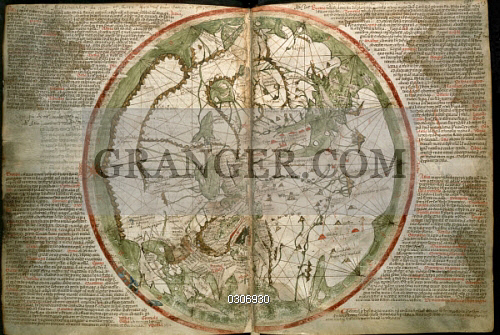 Image of fine art cartography 14th century world map by peter cartography 14th century world map by peter vesconte from the gumiabroncs Gallery