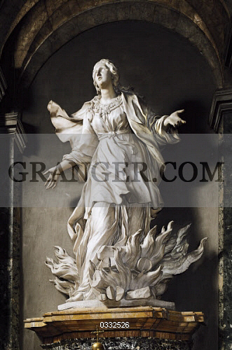 Image of ART & ARCHITECTURE  - St Agnes, Marble Sculpture By
