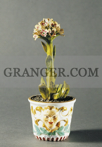 Image Of Decorative Arts Small Vase With Flowers Polychrome
