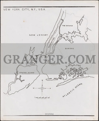 Image Of New York Map 1944 Map Of The Five Boroughs Of New York