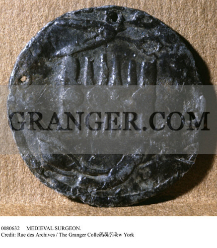 MEDIEVAL SURGEONS MEDAL Medieval Medal For A Barber Surgeon Found In Paris