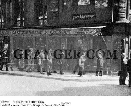 Image of PARIS: CAFE, EARLY 1900s. - The Café Du Croissant, A ...