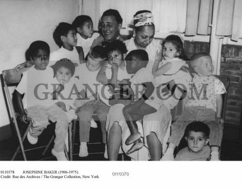 Josephine Baker marries bandleader Jo Bouillon 8x10 photo