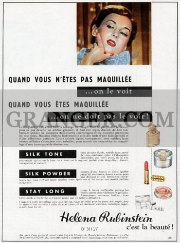 Image of COSMETICS ADVERTISEMENT  - French Advertisement For
