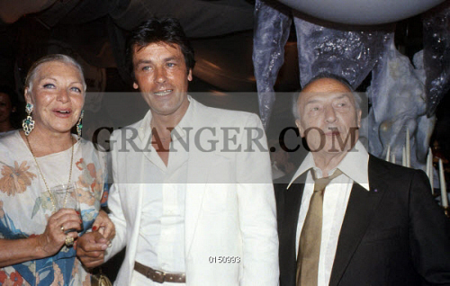 image of line renaud line renaud with alain delon and loulou gaste at eddiebarclay 39 s wedding. Black Bedroom Furniture Sets. Home Design Ideas