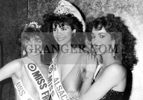 MISS FRANCE 1985 : SUZANNE ISKANDAR. 