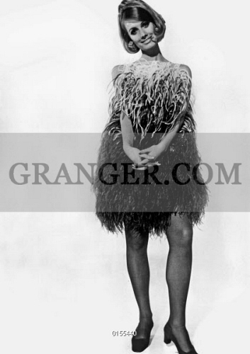 5ca0693b7e Lanvin fashion for spring-summer collection 1968   ostrich feather short  dress