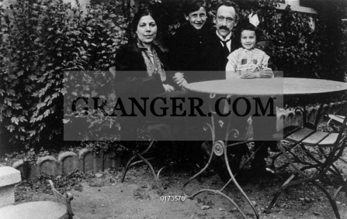 Image Of Eugene Minkowski 1885 1972 Portrait Of The French Psychiatrist His Wife Francoise Minkowska And Their Children Alexander And Janine Photograph C1925 Full Credit Bourgeron Rue Des Archives Granger
