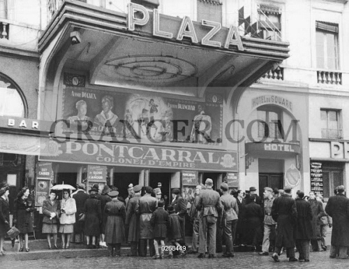 image of wwii cinema 1942 a movie theatre in occupied toulouse france where german. Black Bedroom Furniture Sets. Home Design Ideas
