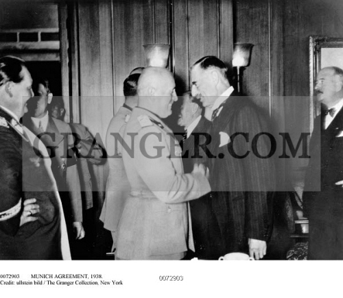 Image Of Munich Agreement 1938 Negotiations At The Fhrerbau