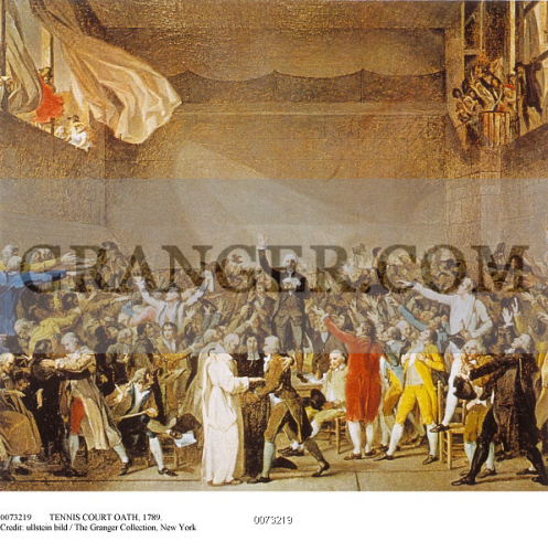 Image Of Tennis Court Oath 1789 Representatives Of The Third