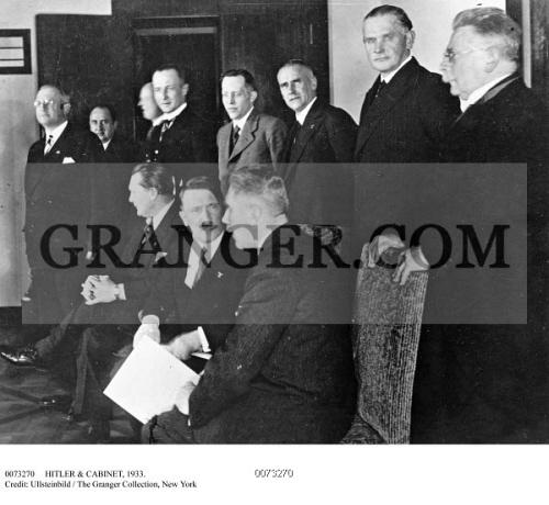 Image of HITLER & CABINET, 1933. - Adolf Hitler (seated, Center ...