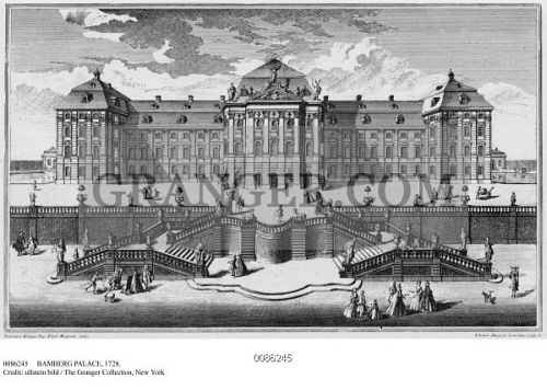 100% top quality delicate colors uk cheap sale Image of BAMBERG PALACE, 1728. - Garden View Of ...