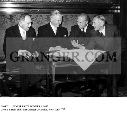 NOBEL PRIZE WINNERS 1952 Meeting Of Nobel Prize Winners At The Main Branch