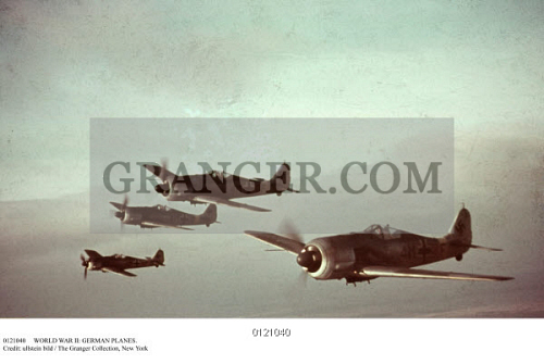Image of WORLD WAR II: GERMAN PLANES  - A Squadron Of German