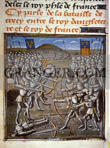 image of hundred years war battle of crecy on august