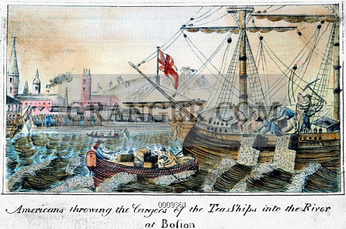 Image of THE BOSTON TEA PARTY 1773  The Boston Tea Party 16