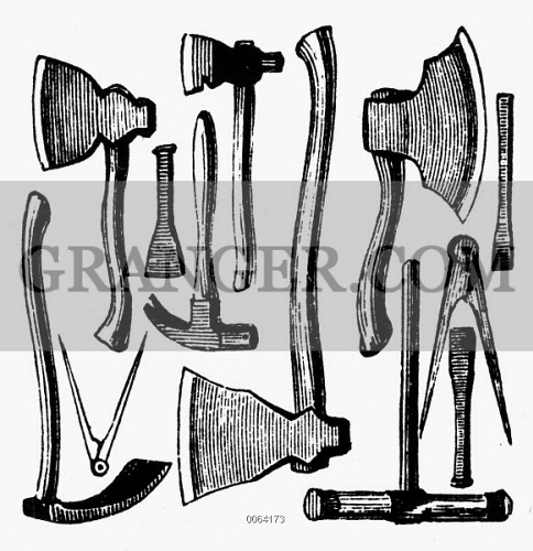 Image of COLONIAL HAND TOOLS  - Various Colonial Hand Tools  Line