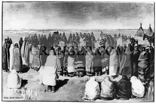 'The Ghost Dance - Large Circle.' Ghost