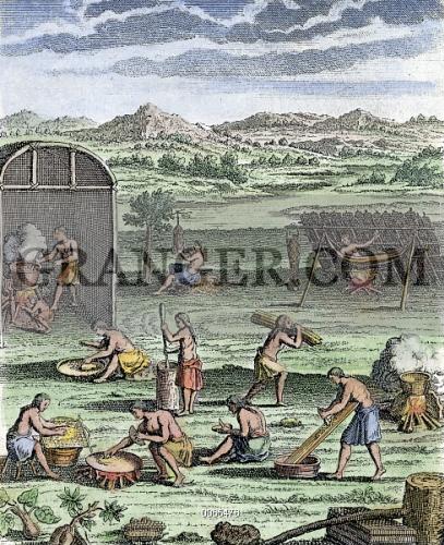 Image of IROQUOIS VILLAGE, 1664  - Village Life Among The
