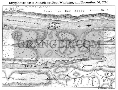 Fort Washington Map.Image Of Fort Washington Map 1776 A Map Depicting The Battle Of