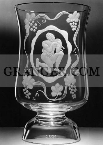 Image Of Steuben Glass Vase C1939 Steuben Glass Vase With A