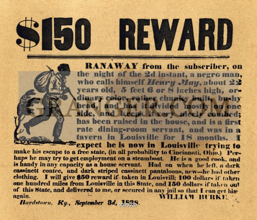 image of runaway slave ad 1838 american newspaper advertisment