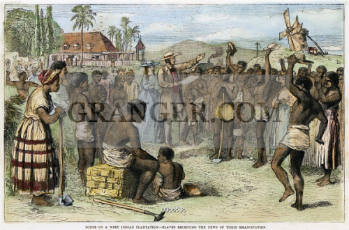 WEST INDIES SLAVERY 1833 Slaves Receive The News Of Their Emancipation On A