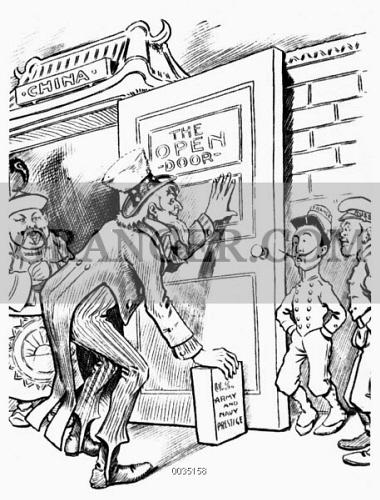 image of open door cartoon c1900 american cartoon c1900 1865 Political Cartoon american cartoon c1900 depicting uncle sam