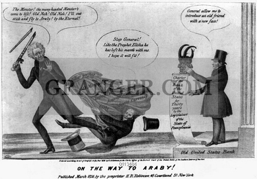 andrew jackson us bank satire on the jackson administrations battle against the bank of