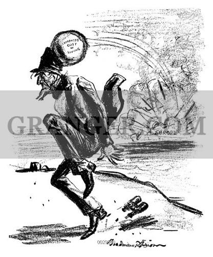 image of world war i cartoon 1915 the innocent bystander