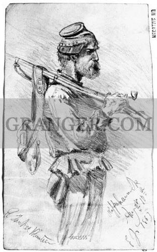 image of civil war soldier 1863 a yankee volunteer pencil