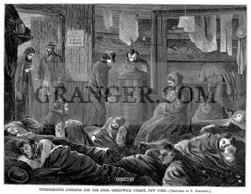 NEW YORK: POVERTY, 1869. 