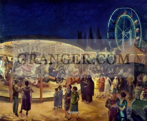 Canvas Santa Fe >> Image Of Sloan Carnival 1924 Travelling Carnival