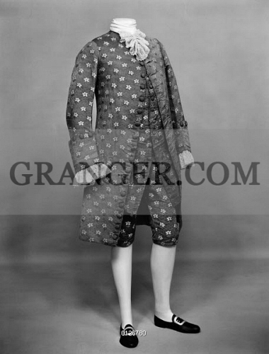 Image Of Fashion 18th Century Man S Suit Of Mauve Silk With