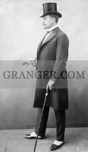 Image Of Gentleman 1903 Formally Dressed Man In Stovepipe Hat