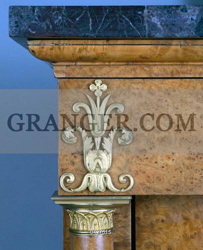 Image of DECORATIVE ARTS. - Restoration Style (Louis XVIII) Burr ...
