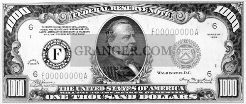Image Of 1 000 Dollar Bill President Grover Cleveland On