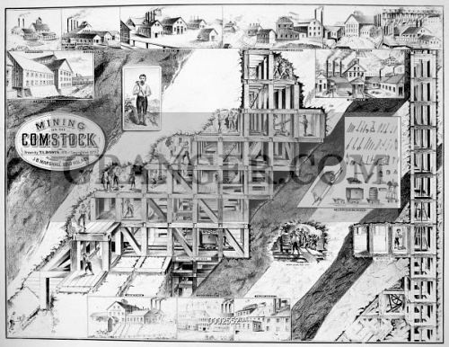 Image Of Nevada Silver Mining A Cutaway View Of The
