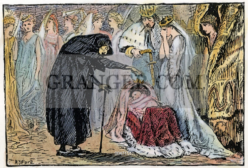 Image of PERRAULT: SLEEPING BEAUTY  - The Old Crone Casts A Spell On