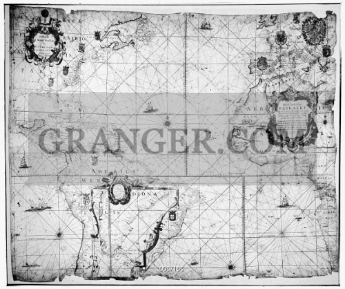 Image of SECOND ERT MAP, 1621. - This Map Was First Issued ... on