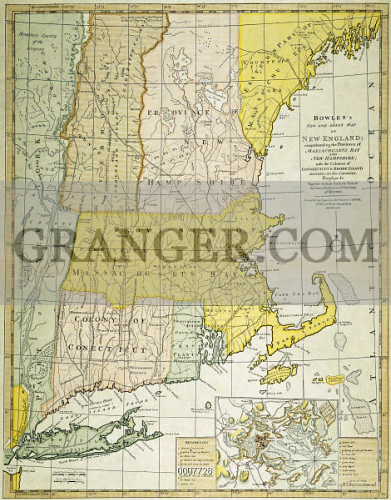 NEW ENGLAND MAP, c1775. 